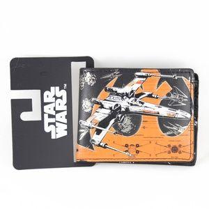 Star Wars X-Wing Fighter Bifold Wallet Mens